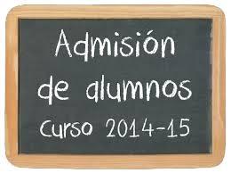 admisión de alumnos